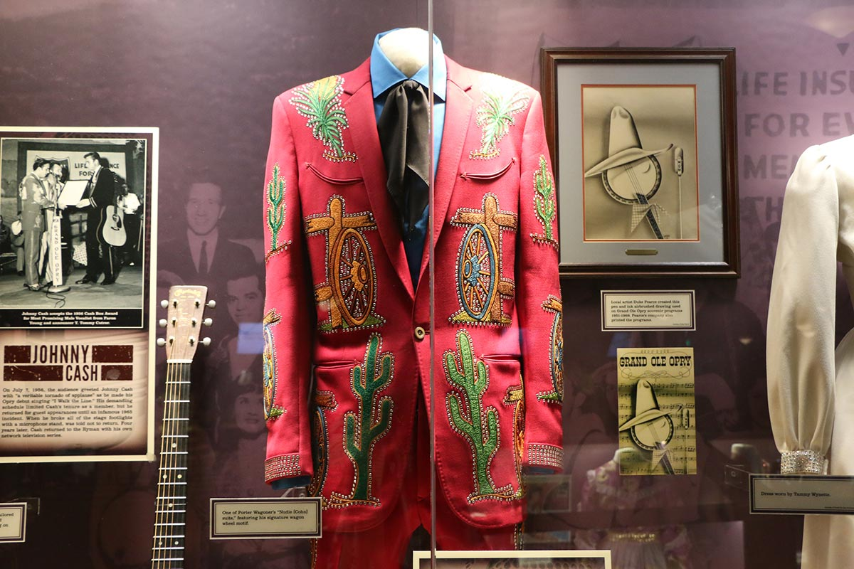 Porter Wagoner's red suit on display